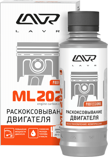 LAVR ML-202 Anti Coks Fast комплект для стандартного двигателя 185мл Ln2502